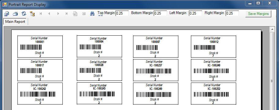 Print Barcode Serial Numbers